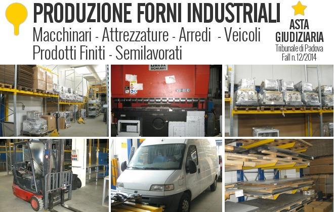Produzione di forni industriali - macchinari - attrezzature - veicoli