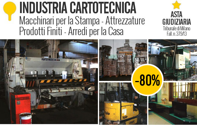 Industria cartotecnica macchinari for Industria italiana arredi