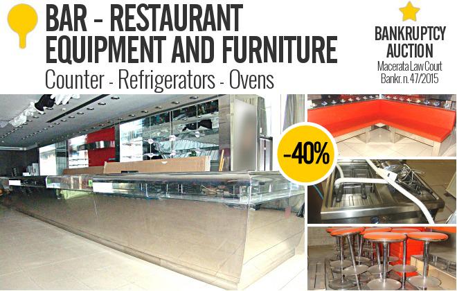 Gobid bar and restaurant equipment bank