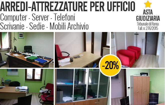 Arredi e attrezzature per ufficio fall 276 for Arredi per ufficio roma