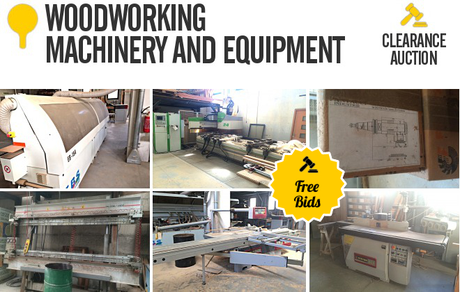 Woodworking Machinery Auctions California - Image Mag