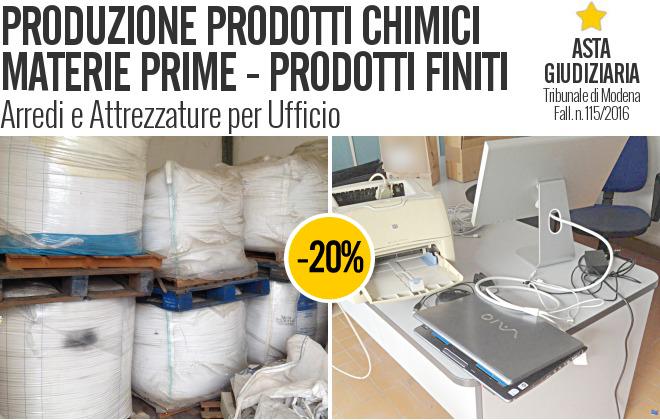 Gobid.it  Produzione Prodotti Chimici - Fall. 115/2016 - Trib. di Modena - Vendita 2  06/04/2017