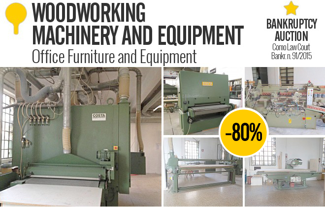 Woodworking Machinery Auctions : Beautiful Green ...